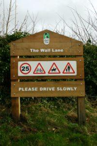Quiet-Lanes-Sign-Wall-Weald-Moors-Shropshire